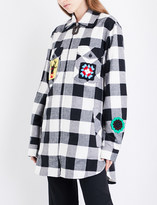 J.W.Anderson Crotchet patch-detailed checked cotton shirt