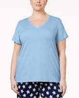 Hue Plus Size V-Neck Pajama T-Shirt