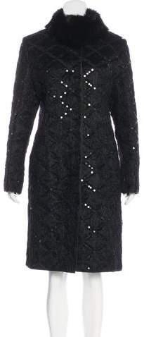 Giuliana Teso Fur-Trimmed Long Coat