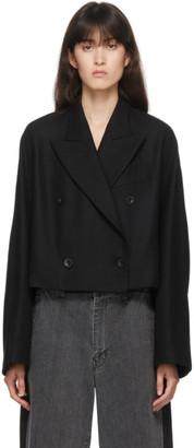 Y's Ys Black Wool K-Short Blazer