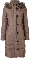 Armani Jeans fur collar padded coat