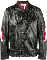 Facetasm distressed biker jacket