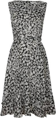 Wallis PETITE Monochrome Floral Print Dress