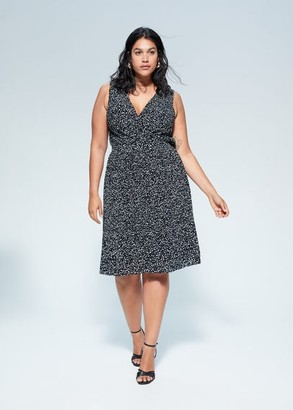 MANGO Printed short dress