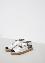 Marsèll silver metallic gradone sandal