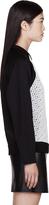 Proenza Schouler Black Embroidered & Quilted Sweatshirt