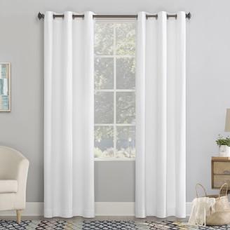 No. 918 Lindstrom Textured Draft Shield Fleece Insulated Room Darkening Grommet Window Curtain