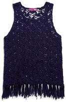 Aqua Girls' Crocheted Fringed Tank - Sizes S-XL