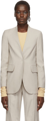 MM6 MAISON MARGIELA Beige Lapel-less Blazer
