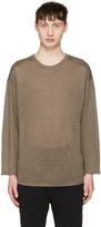 Christian Dada Taupe Linen Pullover