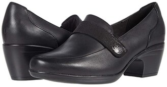 Clarks Emily Andria (Black Leather/Synthetic Combination) Women's Shoes