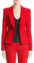 Michael Kors Women's Stretch Pebble Crepe Blazer