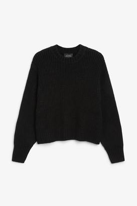 Monki Puffed sleeve sweater