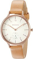 Skagen Women's SKW2405 Anita Light Brown Leather Watch