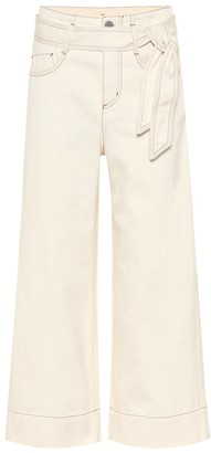 Loro Piana Lenny high-rise wide-leg cropped jeans