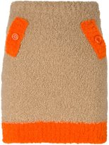 Moschino colour block chunky knit skirt - women - Acrylic/Polyamide/Wool/Alpaca - 42