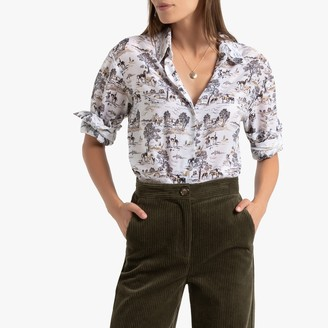La Redoute Collections Cowboy Print Shirt with Long Sleeves