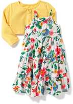 Old Navy 2-Piece Cardi and Tiered Dress Set for Baby