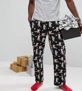 Asos Pyjama Jogger Bottoms With Christmas Cat Print