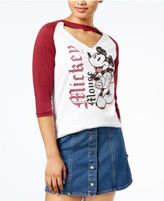 Disney Juniors' Cotton Mickey Choker-Neck Top