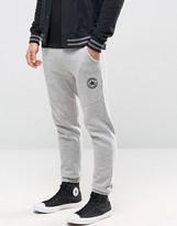 Converse Colour Block Fleece Joggers In Grey 10003127-a02