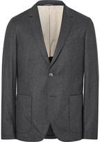 Gant Grey De Luxe Mélange Wool-Flannel Suit Jacket
