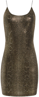 Alice + Olivia Delora Snake Skin Mini Dress