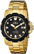 Invicta Men's 17090 Pro Diver Analog Display Japanese Automatic Gold Watch