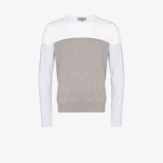 Canali Colour Block Cotton Sweater