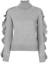 Blugirl turtleneck frilled knitted blouse - women - Wool - 40