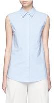 Alexander Wang Surplice back poplin sleeveless shirt