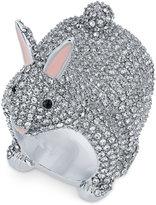 Kate Spade Silver-Tone Crystal Bunny Ring