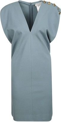 Givenchy V-neck Embellished Shoulder Dress