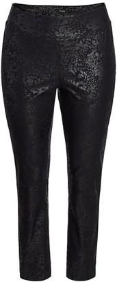 NIC+ZOE, Plus Size Plus Wonderstretch Burnout-Print Pants