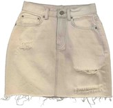AllSaints Grey Cotton Skirt for Women