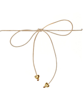 Frasier Sterling Disco Fever Bowtie Choker in Tan Hearts