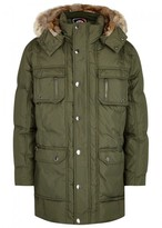 Pajar Tyler Army Green Fur-trimmed Padded Parka