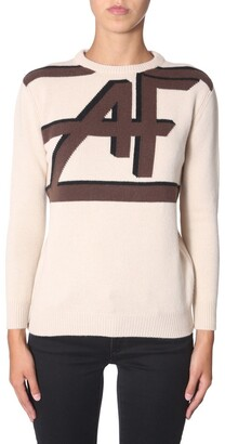 Alberta Ferretti Logo Knit Pullover Jumper