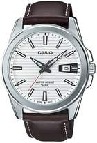 Casio MTP-E127L-7A Men's Brown Leather Dress Watch Date Dial