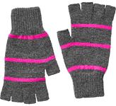 Jigsaw Islay Breton Fingerless Gloves, Dark Grey