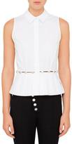 Alexander Wang Sleevless Shirt With Button Waistline