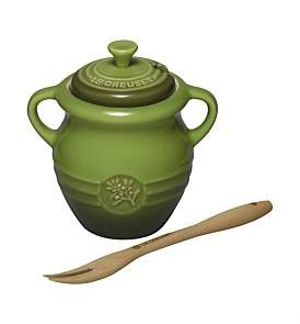 Le Creuset Olive Jar With Fork