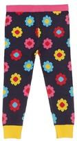 Margherita Infant Girl's Daisy Double-Knit Leggings