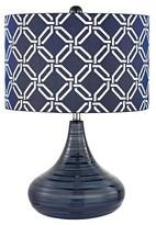 Lazy Susan Navy Blue Table Lamp