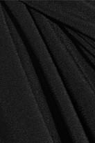 Norma Kamali Ruched one-shoulder bikini top