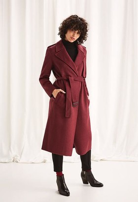 Selected Melange Earth Red Tana Coat - 12 - Red