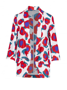 Anonyme - Tulip Print Tailored Shawl Collared Blazer - small