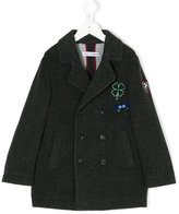 Dolce & Gabbana clover patch double-breasted coat