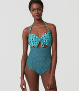 LOFT Beach Tie Strapless One Piece Swimsuit