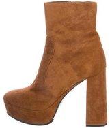 Prada Suede Platform Ankle Boots w/Tags